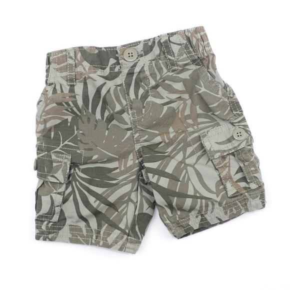 Carter's Leaf Print Cargo Shorts, 9 Months